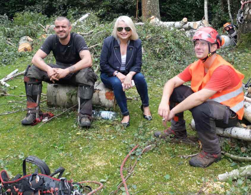 Baumpflegeteam und Meik Skoda